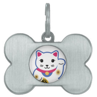 Little Lucky Cat, Maneki-neko ,招き猫 Pet ID Tag