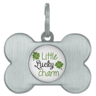 Little lucky charm pet name tag