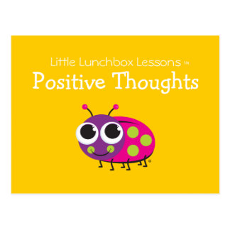 Little Lunchbox Lessons - Positive Thoughts Postcard