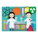 "Little Mad Scientists Birthday Invitation 5"" X 7"" Invitation Card"
