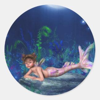 Little Maggie Mermaid Girl Stickers