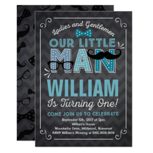 1st Birthday Mustache Invitations Announcements Zazzle