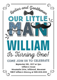 Mustache 1st birthday invitations zazzle little man 1st birthday invitation mustache party filmwisefo