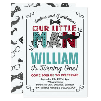 little man 1st birthday invitation mustache party - Mustache Party Invitations