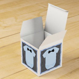 Little Man Baby Boy Shower Favor Box