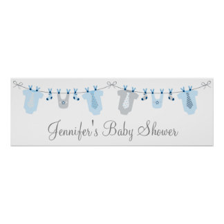 Little Man Baby Clothes Baby Shower Banner Poster