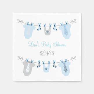 Little Man Baby Clothes Baby Shower Napkins
