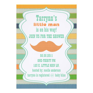 LITTLE MAN Baby Shower & Birthday Invitation