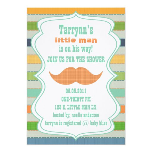 little man baby shower birthday invitation zazzle