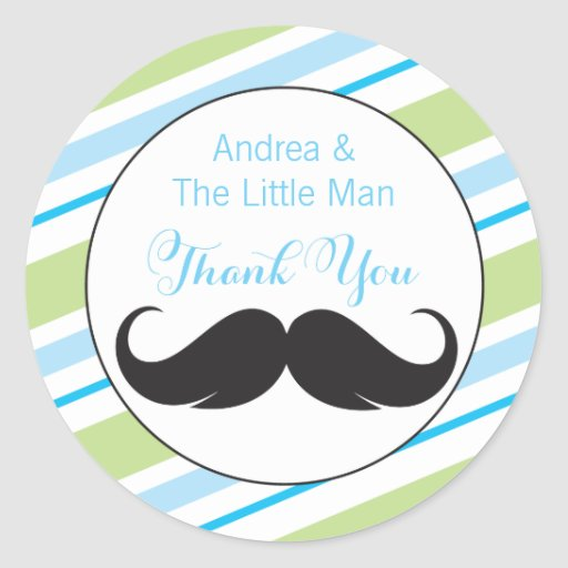 Little Man Baby Shower Favor Sticker