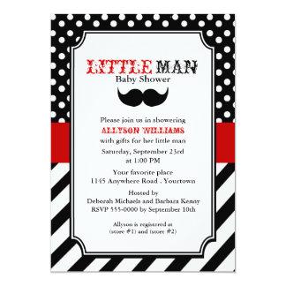 Little Man Baby Shower 5x7 Paper Invitation Card