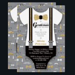 """Little Man Baby Shower Invitation, Faux Glitter Invitation<br><div class=""""desc"""">Invite attendees to your shower with this classic little man themed baby shower invitation! Available in many colors and patterns. No actual glitter will be on this invitation. It is an embedded image of glitter and will print flat as shown. More color choices and matching items can be found here:...</div>"""
