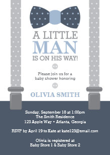 Little man invitations announcements zazzle little man baby shower invitation navy blue gray card filmwisefo
