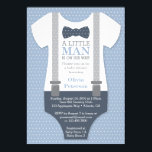 "Little Man Baby Shower Invitation, Navy Blue, Gray Invitation<br><div class=""desc"">Invite attendees to your shower with this classic little man themed baby shower invitation! Available in many colors and patterns.</div>"