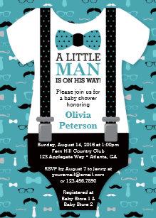 Little man invitations announcements zazzle little man baby shower invitation teal black card filmwisefo