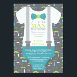 """Little Man Baby Shower Invitation, Teal, Green Card<br><div class=""""desc"""">Invite attendees to your shower with this classic little man themed baby shower invitation! Available in many colors and patterns.</div>"""