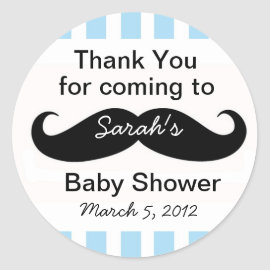 Little Man Baby Shower party Favor Stickers gift