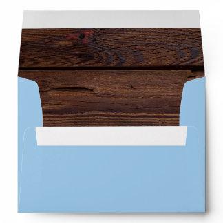 Little Man Baby Shower | Rustic Wood Bowtie Envelope