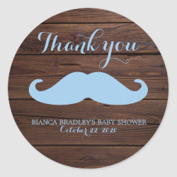 Round Sticker with Mustache Mugs design