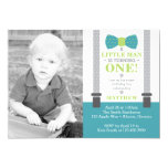 Little Man Birthday Party Invitation with Photo