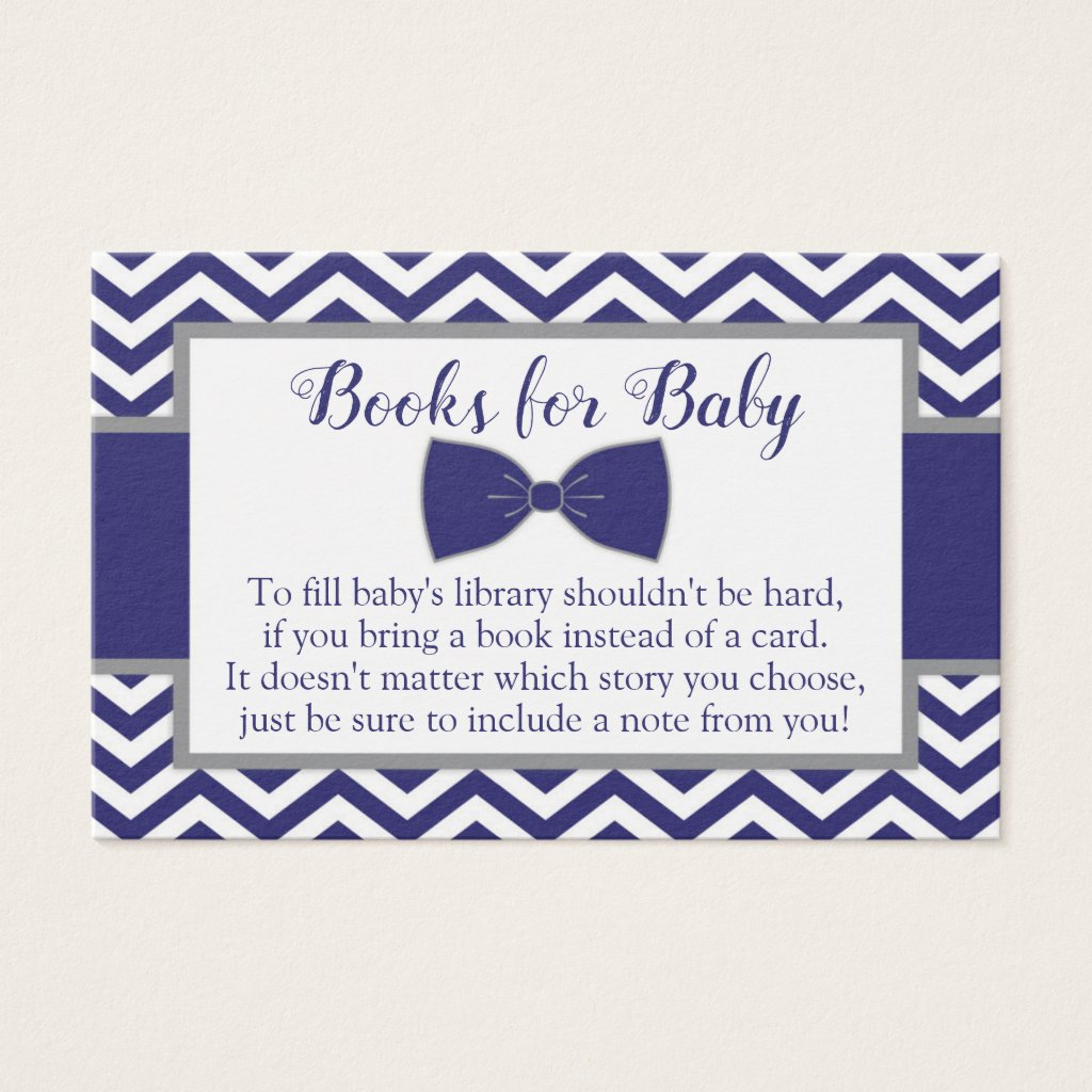 Little Man Bow Tie Baby Shower Book Request Card