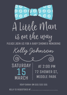 Bow tie invitations zazzle little man bow tie baby shower invitation filmwisefo