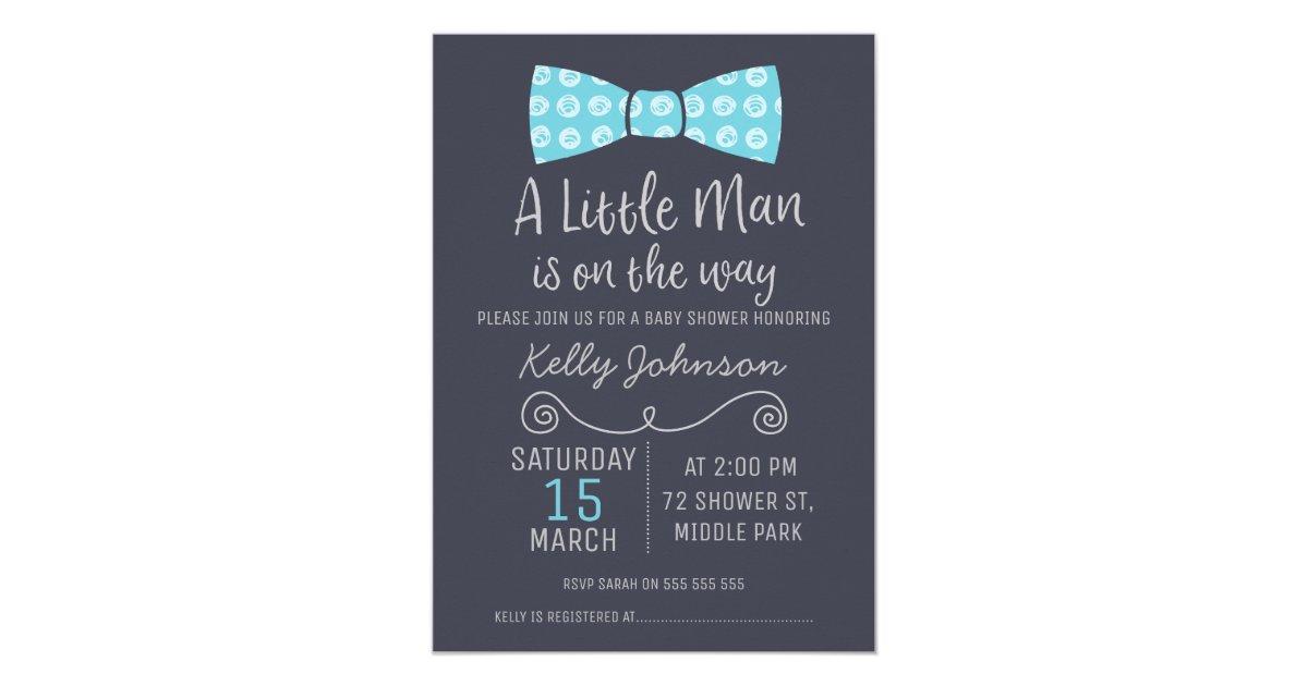 Little Man Bow Tie Baby Shower Invitation | Zazzle.com