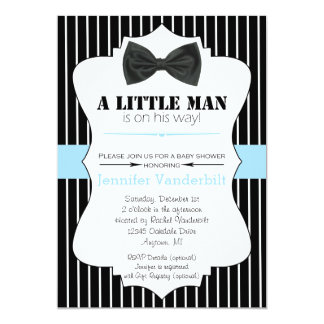 Nice Little Man Bow Tie Baby Shower Invitation