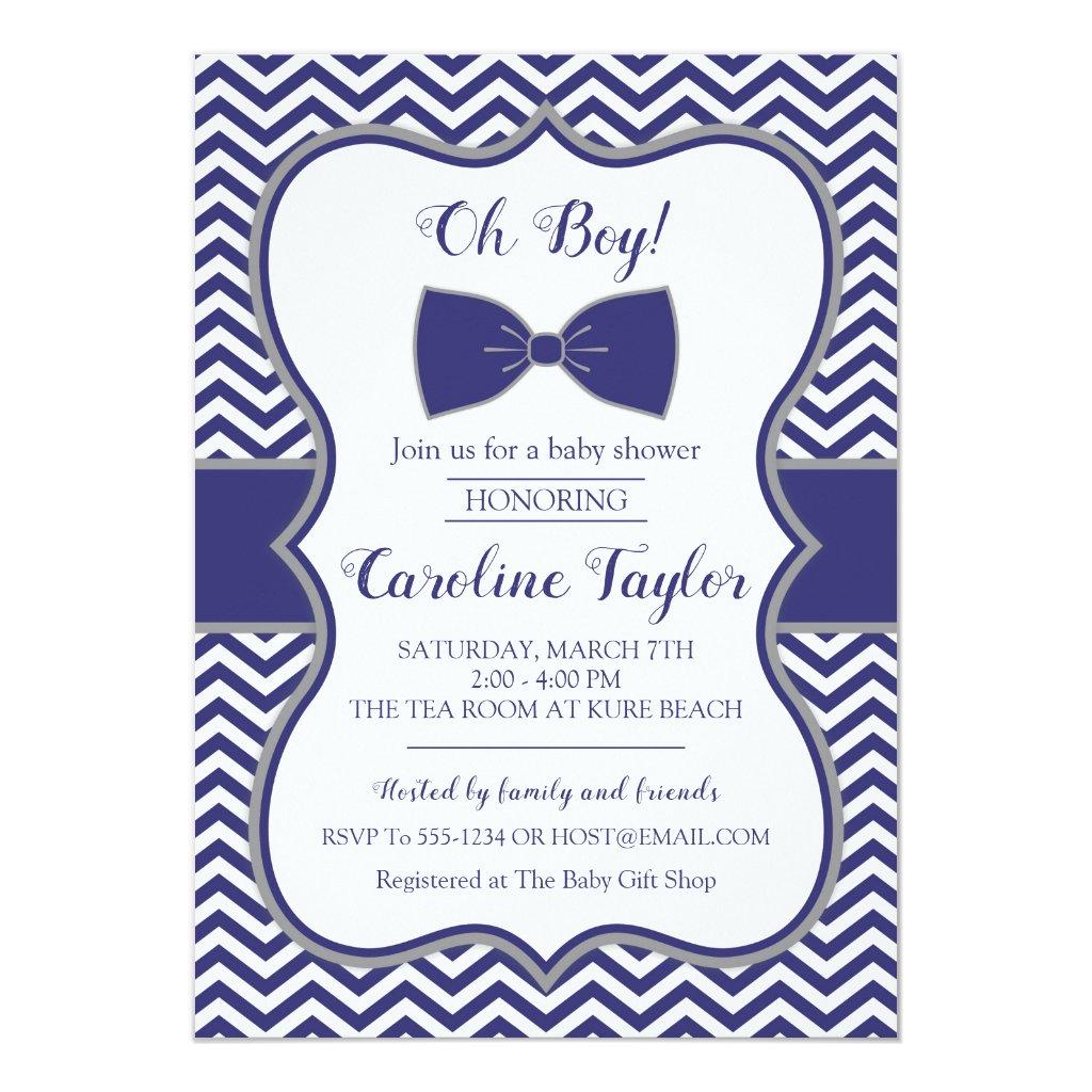 Little Man Bow Tie Baby Shower Invitation card