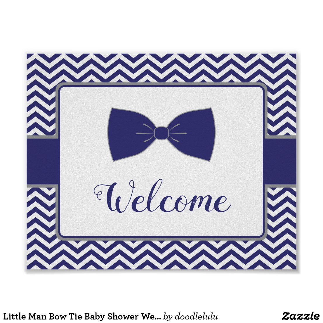 Little Man Bow Tie Baby Shower Welcome Sign