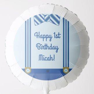 Little Man Boy's 1st Birthday Party Balloon