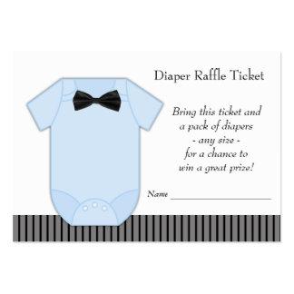Little Man Boys Diaper Raffle Tickets Large Business Card