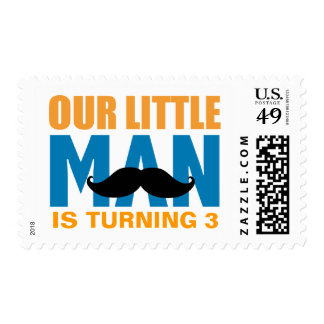Little Man Custom Postage Stamps
