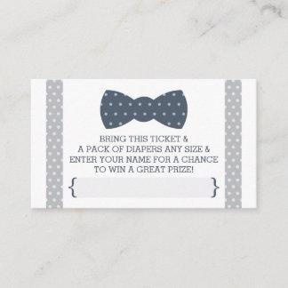 Little Man Diaper Raffle Ticket, Navy Blue, Gray Enclosure Card