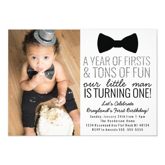 Little man first birthday invitation zazzle little man first birthday invitation filmwisefo