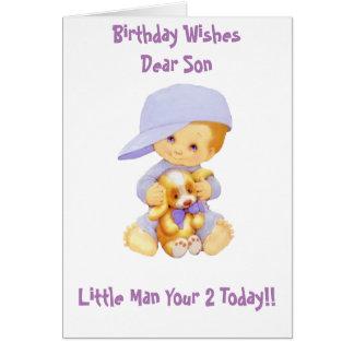 LITTLE MAN GREETING CARD