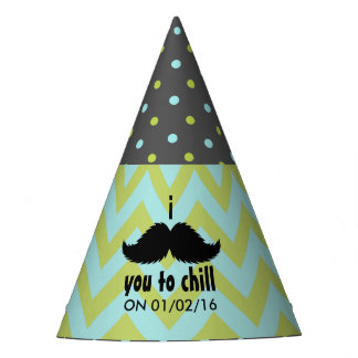 Little Man Hipster Mustache Birthday Party Party Hat