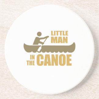 Little man in the canoe beverage coaster