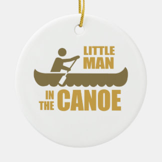 Little man in the canoe christmas ornaments