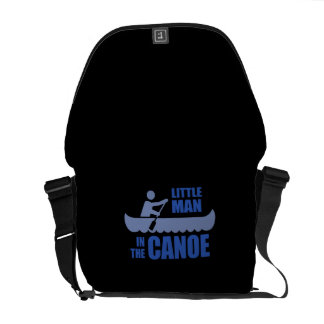 Little man in the canoe courier bags