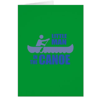 Little man in the canoe greeting cards