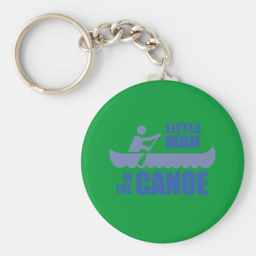 Little man in the canoe key chain