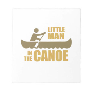 Little man in the canoe memo note pad