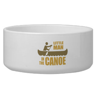Little man in the canoe dog water bowls