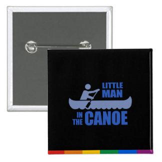 Little man in the canoe pinback button