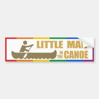 LITTLE MAN IN THE CANOE -.png Car Bumper Sticker