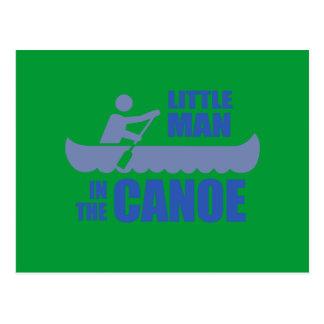 Little man in the canoe postcard