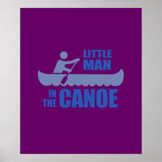 Little man in the canoe poster