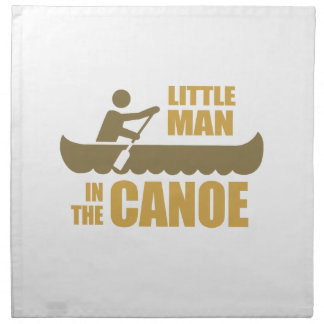 Little man in the canoe printed napkins
