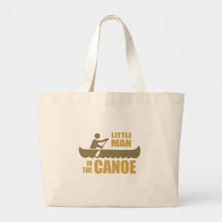Little man in the canoe tote bags